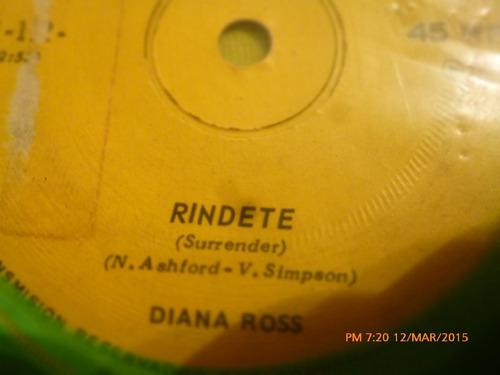 vinilo single -diana ross --rindete ( i36