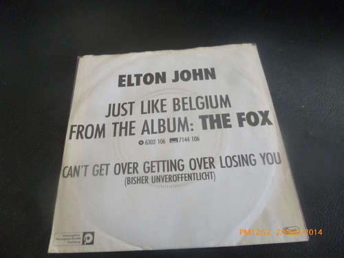 vinilo single elton john  //jus like belgiu ( n5