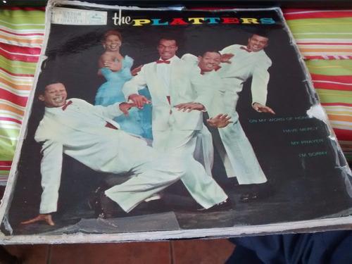 vinilo single ep  de  los platters -- my prayer ( b58