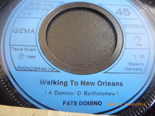 vinilo single fast domino //walking new orleans ( i110