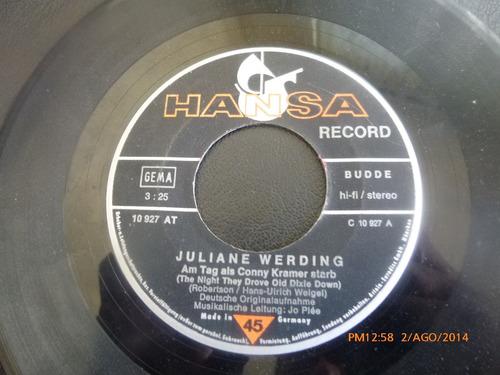 vinilo single juliane werding  ( b132