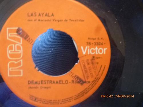 vinilo single las ayala - me cai de la nube ( s55