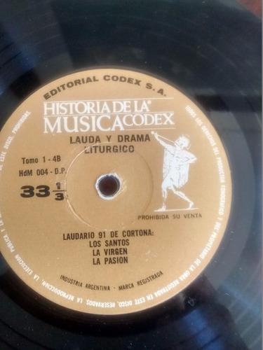 vinilo single lauda y drama liturgico  ( t94