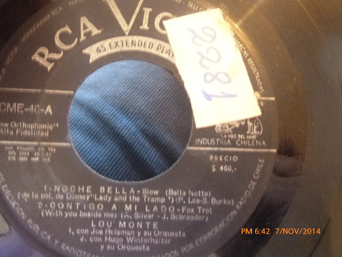 vinilo single lou monte -kay starr ( s61