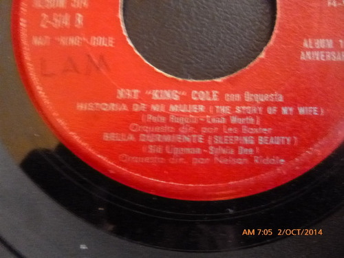 vinilo single  nat king cole -10 anniversa ( h23