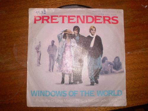 vinilo single pretenders - - windows of the world ( h7