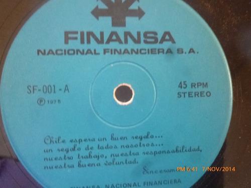 vinilo single promocional finansa   ( s63