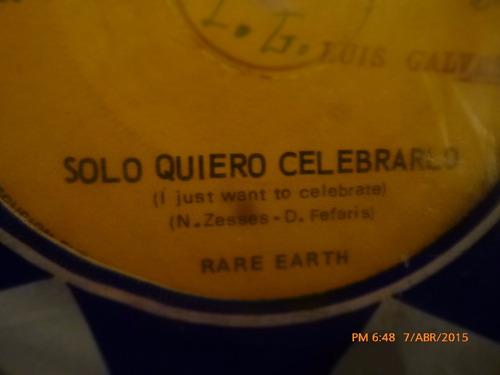 vinilo single -  rare earth   --la semilla ( s8