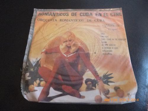vinilo single romanticos de cuba en el cine ( h19