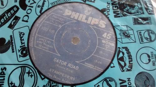 vinilo single stampeders -- gator road (  c46