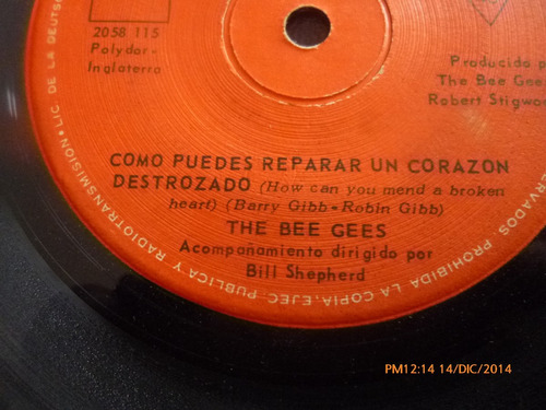 vinilo single the bee gees -- country woman ( s131