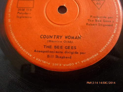 vinilo single the bee gees -- country woman ( s137