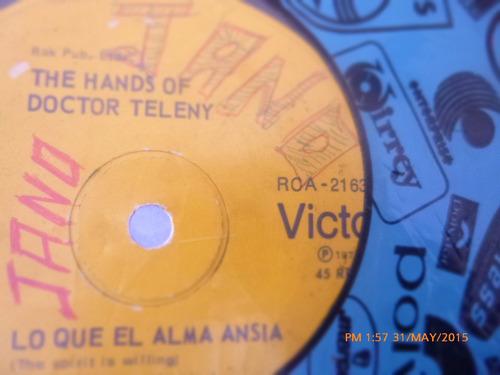 vinilo single the hands of doctor teleny -- lo que el ( h122