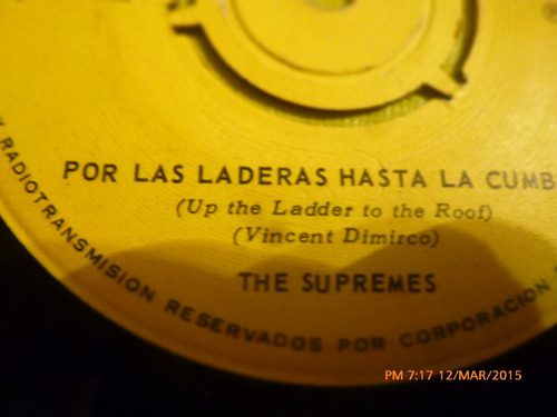 vinilo single - the supremes -por las laderas ( i48