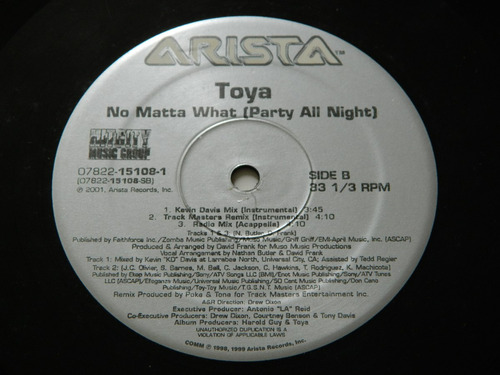 vinilo single toya no matta what 50 cent