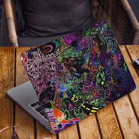 Vinilo Skin Calco Notebook  Macbook Psicodelico Colores