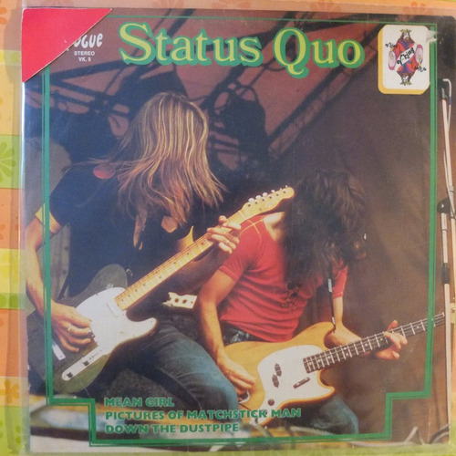 vinilo  status quo mean girl pictures of marchstick man, ...