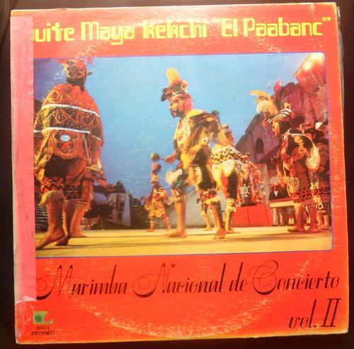 vinilo suite maya marimba nacional de concierto vol 2