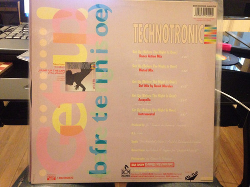 vinilo technotronic get up maxi alemán 1990 dj 90