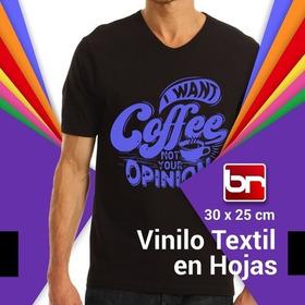 Vinilo Termotransferible Textil Calidad Br (en Hoja)!!!