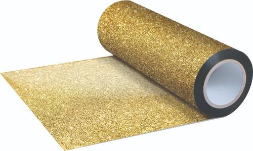 vinilo textil  dorado escarcha 50cn*100cn