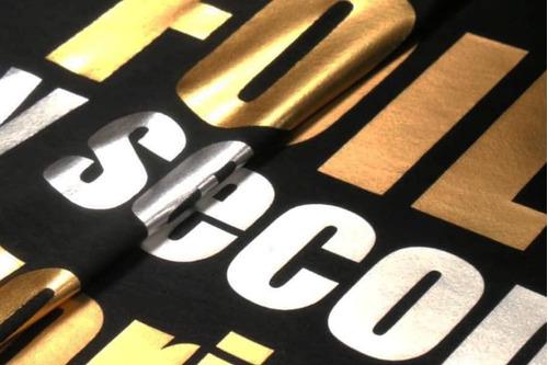 vinilo textil espejo en color dorado, plateado y negro