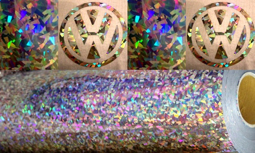 vinilo textil termotransferible holografico cristal plata 1m