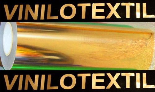 vinilo textil termotransferible metalizado espejado dorado