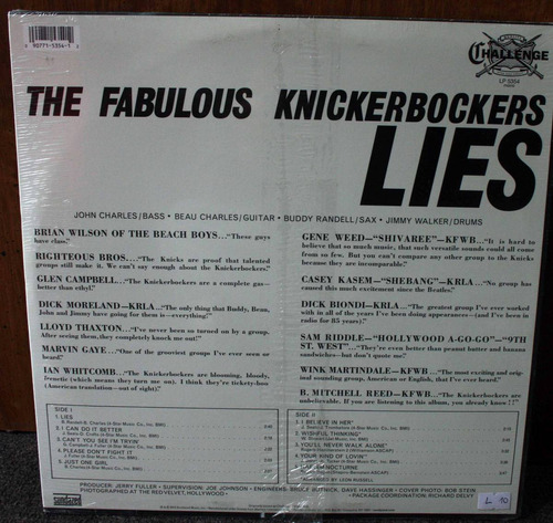 vinilo the fabulous knickerbockers (sellado)lies2012