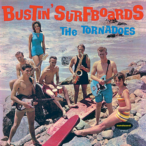 vinilo : the tornadoes - bustin' surfboards (clear vinyl)