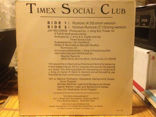 vinilo timex social club rumors maxi usa 1986 dj 80