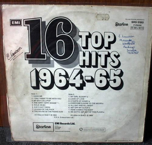 vinilo top hits 1964/65 uk lp
