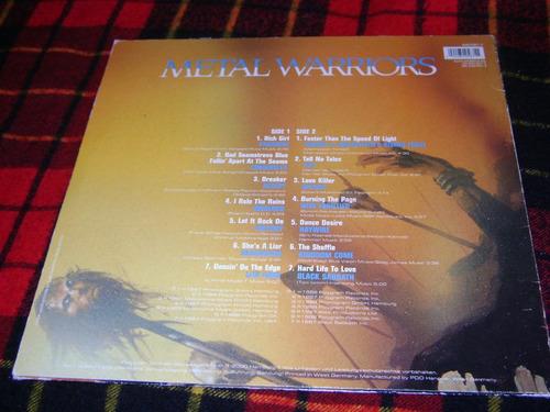 vinilo v.a. metal warriors - accept - warlock -black sabbath