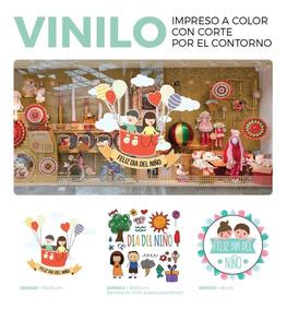 Vinilo Vidriera Dia Del Niño Local Negocio Comercio Cartel