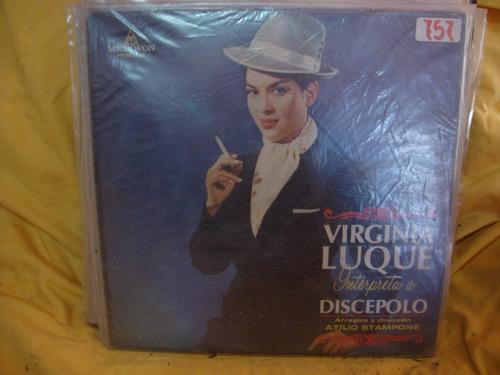 vinilo virginia luque interpreta a discepolo atilio stampone