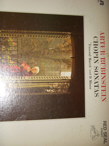 vinilo.chopin sonatas.funeral march.b minor.a.rubinstein.imp