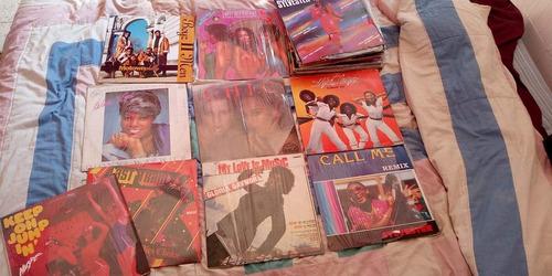 vinilos, 30 discos de acetato funk y disco.