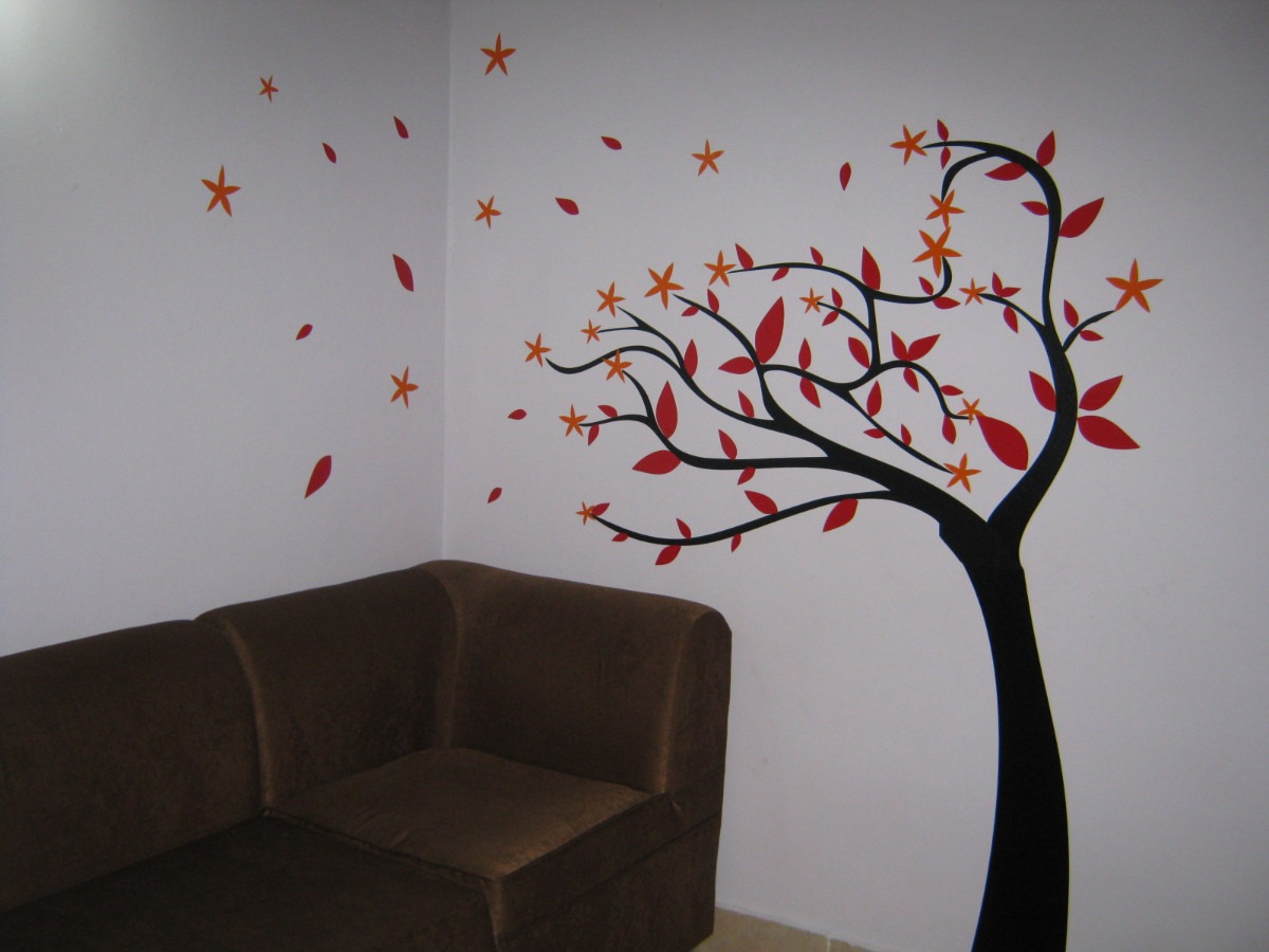 Vinilos adhesivos decorativos arboles en for Vinilo decorativo madera