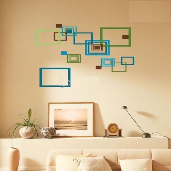 Vinilos adhesivos decorativos cuadrados tonalidades for Adhesivos decorativos