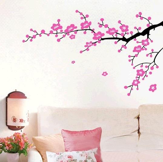 Vinilos adhesivos decorativos flores rosadas chinas - Rosas chinas ...