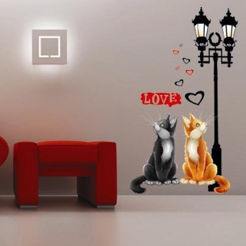 Vinilos adhesivos decorativos gatos y faroles xy8020 - Vinilos adhesivos decorativos ...