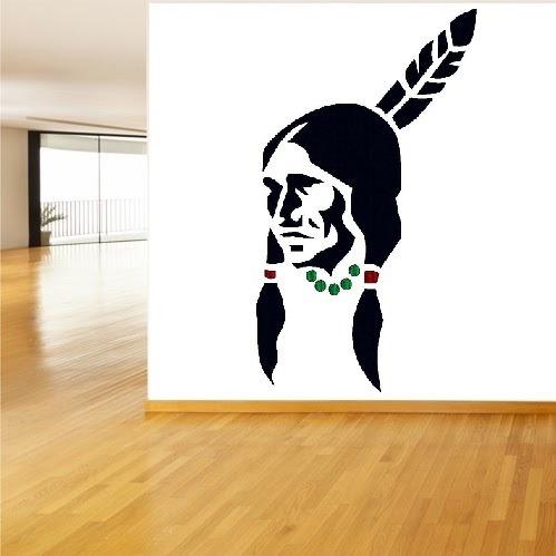 vinilos adhesivos decorativos indios - salvaje oeste