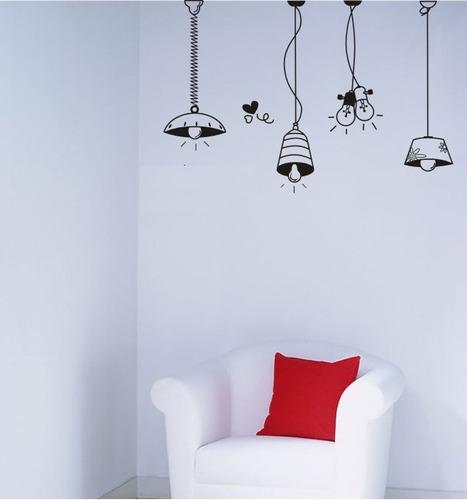 vinilos adhesivos decorativos lamparas, faroles y bombillos