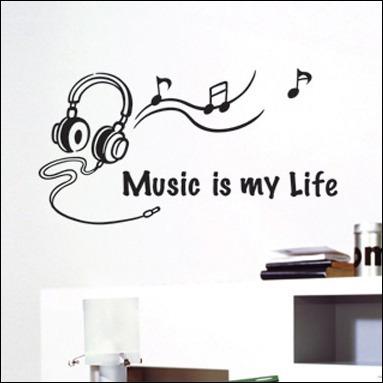 vinilos adhesivos decorativos musica en mercado