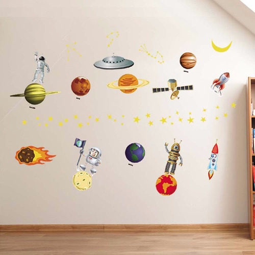 Vinilos adhesivos decorativos ni os universo planetas - Vinilos decorativos ninos ...