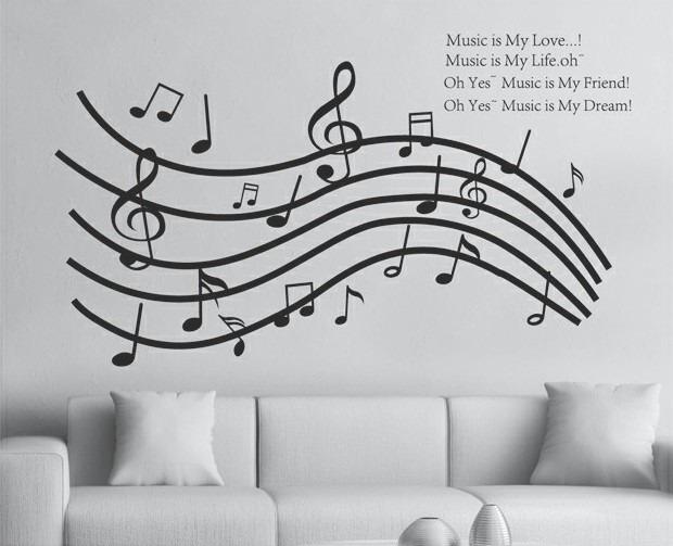 vinilos adhesivos decorativos notas musicales 290 00