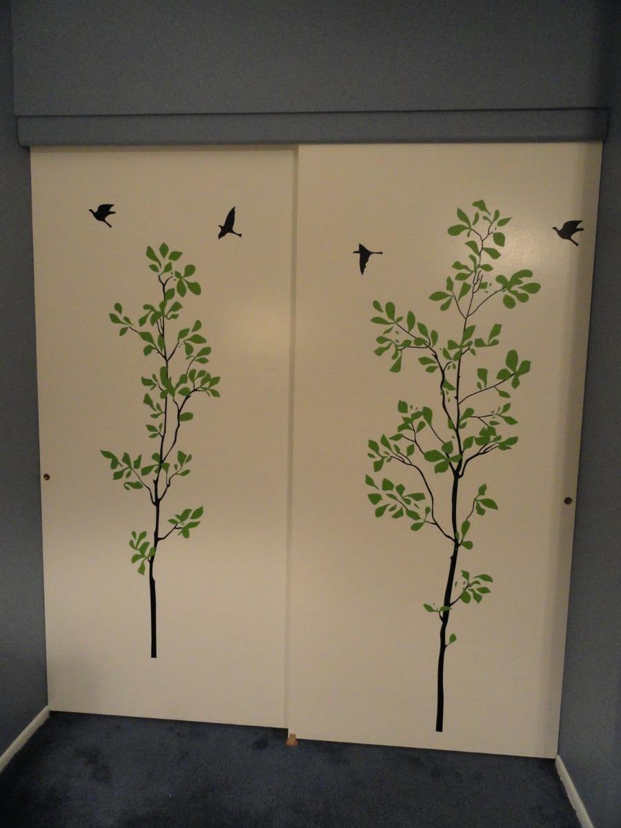 Vinilos adhesivos decorativos para puertas en for Adhesivos decorativos pared