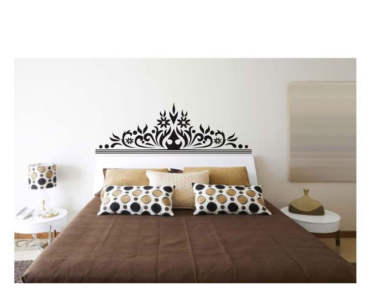 Vinilos adhesivos decorativos pared respaldo cama jm7268 for Adhesivos decorativos pared