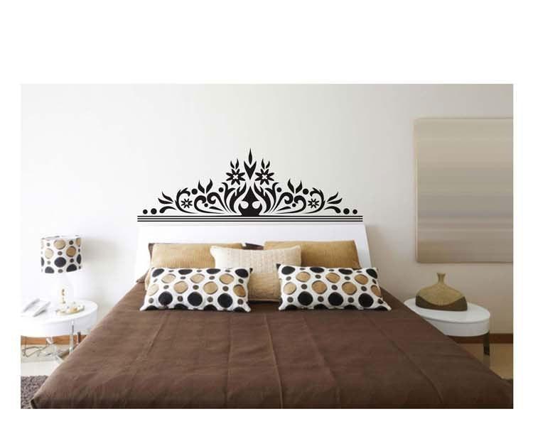 Vinilos adhesivos decorativos pared respaldo cama jm7268 290 00 en mercado libre - Decoracion paredes vinilos adhesivos ...