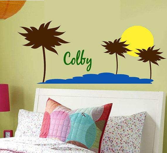 Vinilos adhesivos decorativos playas y palmeras for Adhesivos decorativos